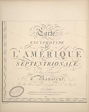 Carte Encyprotype L'Amérique Septentrionale ...