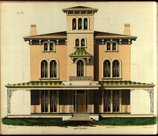 Villa, No. 1. Front Elevation.