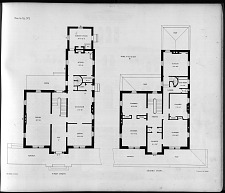 Plans for Villa, No. 1. First Story. Second Story.