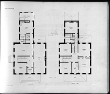 Plans for Villa. No. 3, First Story. Second Story