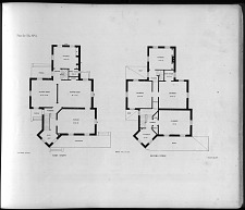 Plans for Villa, No. 5. First Story. Second Story