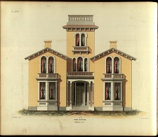 Villa, No. 8. Front Elevation.