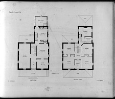 Plans for Cottage, No. 11. First Story. Second Story.