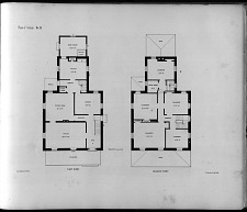 Plans of Cottage, No. 15. First Story. Second Story.