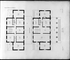 Plans for the Mansions, either Nos. 20 or 21. Second Story. First Story.