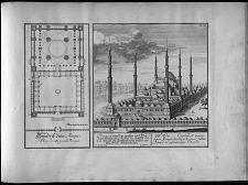 Le grand et magnifique mosquée bastie par le grand Sultan Achmed à Constantinople ...