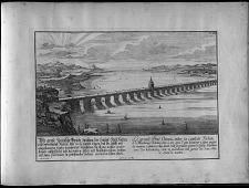 Le grand pont Chinois entre la capitale Focheu et le Fauxbourg Nantai ...