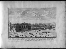 Veue et Perspective de l'Hotel du Jardin, et de l'Orangerie, que son Altes ... Prince de Trauthson ... 1711