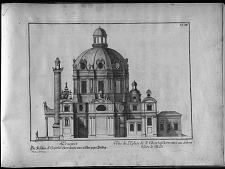 Vue de l'Eglise de St. Charles Borromeé au dehors vers le Midi.
