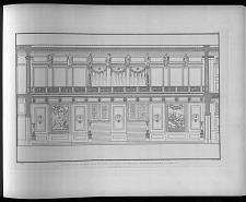 Aufriss einer langen wand des concertsaals im koenigl. Schauspielhause zu Berlin.