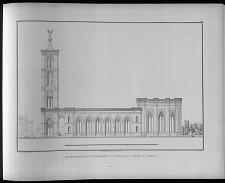 Seitenansicht der entworfenen St Gertrauds kirche zu Berlin.
