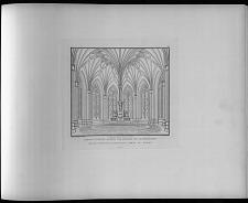 Perspectivische ansicht vom inneren des altarraumes der entworfenen St. Gertrauds kirche zu Berlin.
