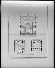 Entwurf einer kleinen kirche von quadratischer form des grundrisses.