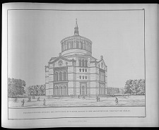 Perspectivische ansicht des entwurfs No. V einer kirche in der oranienburger vorstadt bei Berlin.