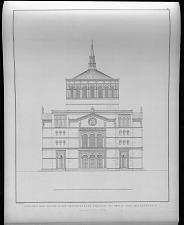 Ansicht der kirche in der oranienburger vorstadt bei Berlin. Nach dem entwurf No. V.