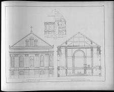 Alte façade und profil der kirche von zittau im unrestaurirten zustande ...
