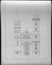 Façade der thurmseite an der restaurirten S. Johannis kirche zu zittau.
