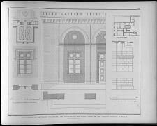 Situationsplan, grundriss und details der architectur des neuen thors bei dem charité gebaude in Berlin