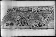 Eq. Ionnes Lanfracus pinxit in Hortis Burghesiis. Petrus Aquila delin, et incidit. Io Iacob. de Rubeis formis Romę ad Templ. S. Marię de Pace cu Priu S. Pont.