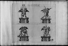 Caelestis ac vulgaris amoris imagines ouatuor in totidem apsidis angulis pictae a ouibus pendent allegoriae et argumenta fabularum ...