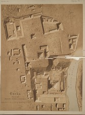 Copan. Plan of the principal ruined structures