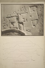 Photograph of a plaster model in the South Kensington Museum of the Ruins of Copan. Sections through the principal structures.