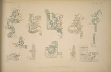 Examples of the use of the feathered serpent at Menché, Tikal, Copan, Chichen Itza