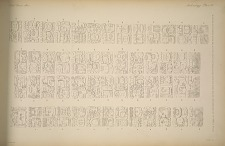 Stela A. (Pages 36 to 39) Inscription on the sides and back drawn from a plaster cast in the South Kensington Museum.