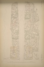 Stela H. (Page 50) North & south sides drawn a plaster cast in the South Kensington Museum.