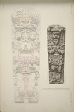 Stela I. (Pages 52 & 53) Drawing and photograph of a plaster cast in the South Kensington Museum.