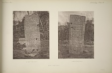 Stela J. (Pages 53 & 54) (a) East face. (Back) (b) West Face (Front)