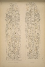 (a) Stela N. (Pages 55_57) East side. (b) West side