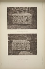 (a) Altar Q. (Page 60) West side. (b) Altar Q. (Page 60) South side.
