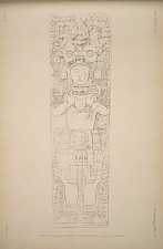 Stela 2. Drawing of the face of the monument. See  plate 103.a & page 66.