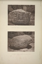 (a) Monolithic animal B. South face. See pages 8 and 9. (b) Monolithic animal B. See Plate 15 and pages 8 and 9