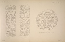 Stela K. Drawing of the inscription, See Plates 47-48 and Page 15. Circular altar L. See Plate 50a & b and page 16