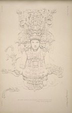 The great turtle P. The north face, drawing of central figure. See Plate 57 & 58c and Pages 18-19.