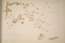 Plan of the mounds. Between the city of Guatemala and Mixco. See Plate 75 & Pages 38-39.