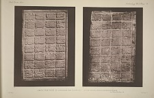 Lintels from House D. A photograph from plaster cast. (b) From original stone in the British Museum. See Plate 80 & Page 44.