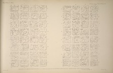 Drawings of lintels from House D. (a) from a plaster cast in Victoria & Albert Museum. (b) From original stone in British Museum. See Plate 79 & Page 44.