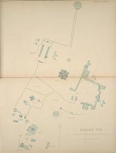 Chichén Itza. Plan of the principal ruined structures.