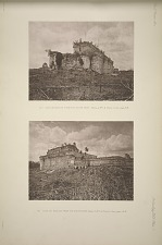 (a) Casa de Monjas from the south west, Plate 2, No. 1, & Plate 3, See pages, 14-16. (b) Casa de Monjas from the south east, Plate 2, No. 1 & Plate 3, See pages, 14-19.