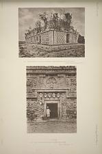 (a) Casa de Monjas range of chambers from south east corner of terrace ... (b) Casa de Monjas doorway in eastern end of wing ...