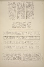 (a) Casa de Monjas, inscriptions on the lintels of doorways ... (b) Casa de Monjas, line of symbols over doorway in the east wing ... (c) Casa de Monjas, inscription oon lintel of doorway in the east wing ... are all drawn from plaster casts.