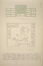 AK at 'Cib. Plate 2. No. 4, See Pages 19-20. AK at 'Cib. Under surface of lintel of doorway marked x in plan. Drawn from a plaster cast. See pages 19-20. Outer surface of lintel, drawn from a plaster cast.