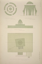 Ground plan of caracol. Section through C-D. Plan of caracol and terraces ...