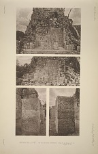 The great ball court. The sculptured chamber E. Plate 27 See Plates 42-51. & pages 31-33.