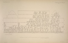 The great ball court. The sculptured chamber E. key plan of the wall sculptures. See Plates 45-51 & Pages 31-33.