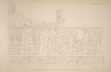 The great ball court. The sculptured chamber E. Plate 27, the west wall. See Plate 44 & Pages 32-33.