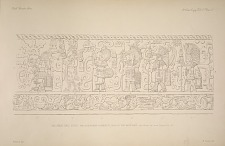 The great ball court. The sculptured chamber E. Plate 27. The west wall, See Plate 44 and Pages 32-33.